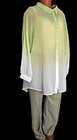 Блуза женская нарядная, элегантная, офисный стиль, очень большой размер 56/58, фото 1