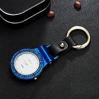 ЮСБ зажигалка с часами и фонариком (ЮСБ-126-21) Синий