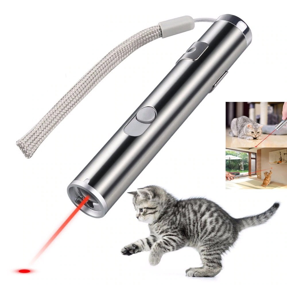 Мини красная лазерная указка для кошек перезаряжаемая USB