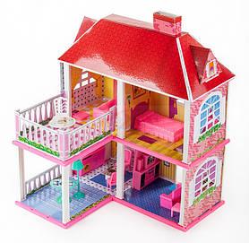 Детский игровой набор Двухэтажный домик | Детский кукльный домик с мебелью