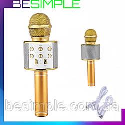 Дитячий мікрофон з караоке Karaoke DM WS-858 / Бездротової мікрофон караоке