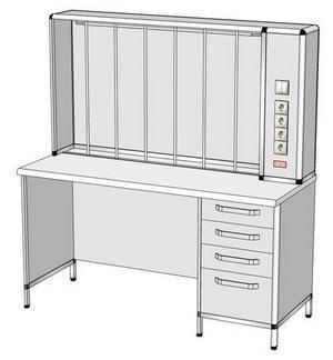 Стол титровальный СТ-2 (1500x600x1600)