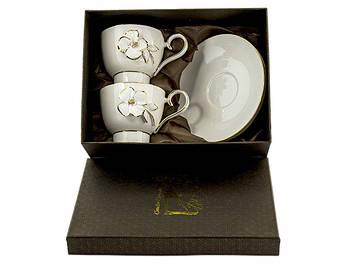 Набір чайний керам.. 4предм. (2чаш. 200мл+2бл.) в подар. кор-ці №STL134(6)/Bonadi/