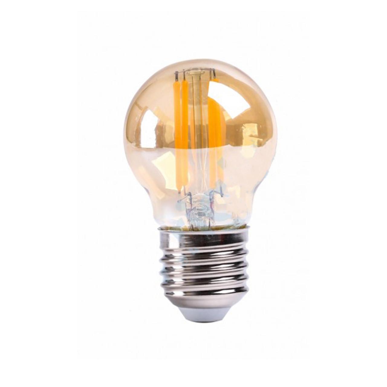 Лампа  LED Platinum Filament Шар 6W E27 4000K золотая G45 RIGHT HAUSEN