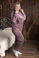 Женский спортивный повседневный костюм велюровый с капюшоном 72473 Zeta-m