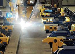 Линия изготовления боковин рам кузовов электровозов
