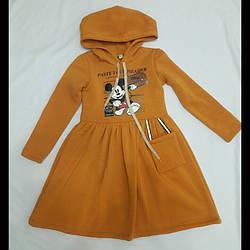 Теплые детские платья с начесом