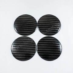 Наклейки на ковпачки Carbon 65 мм