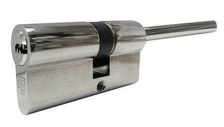 Цилиндровый механизм Гардиан Guardian Basic GB 36х21х70SH ключ/шток никель (РФ)