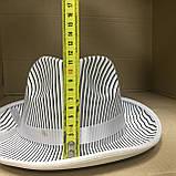 Шляпа Гангстера в полоску белая, фото 4