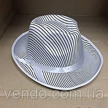 Шляпа Гангстера в полоску белая