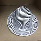 Шляпа Гангстера в полоску белая, фото 2