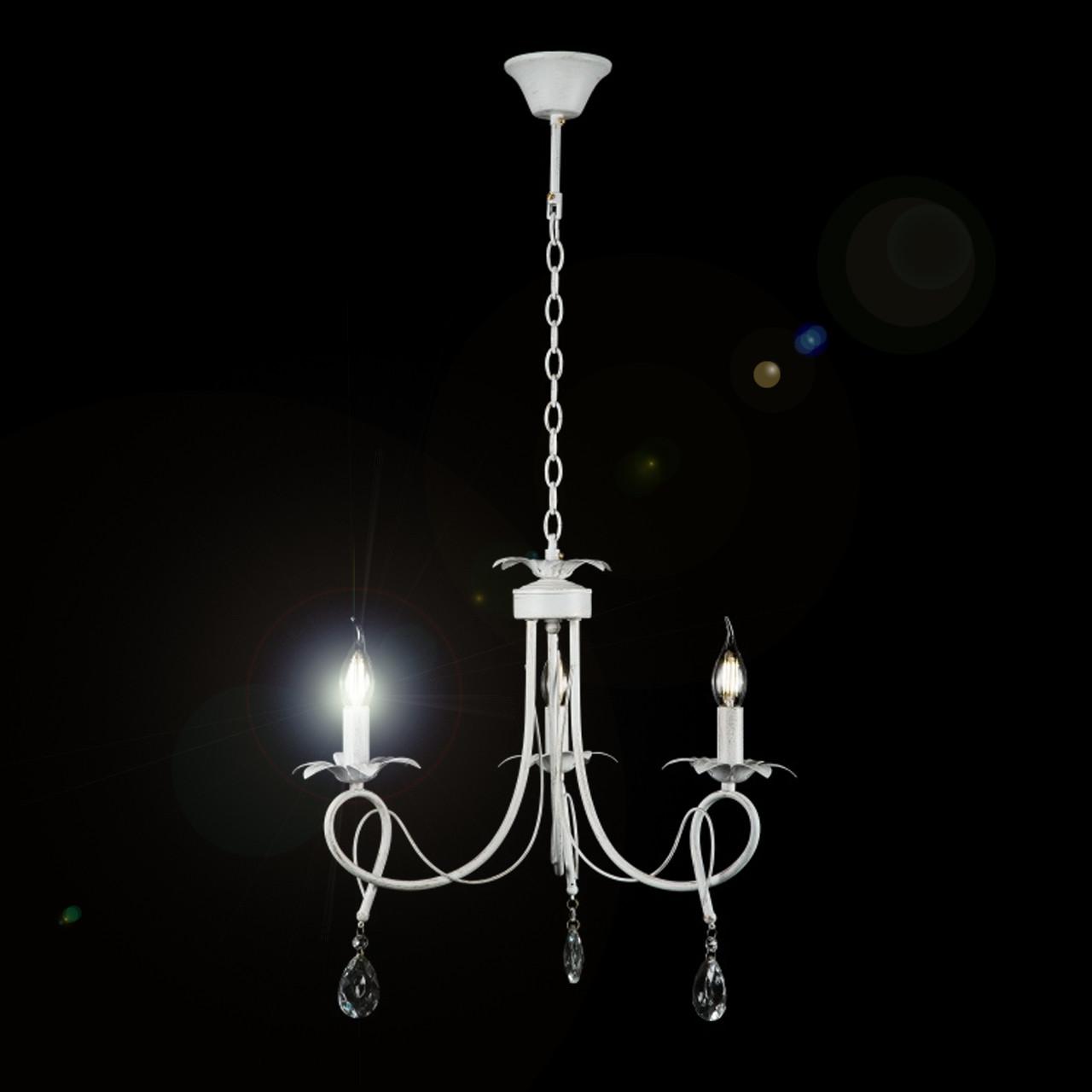 Белая люстра-свеча на 3 лампы е14 VL-7357/3 (WT)