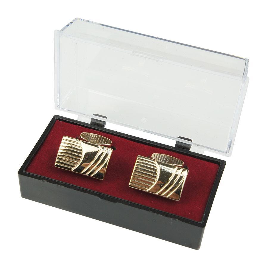 Прямокутні запонки з візерунком під золото Z3 - Р