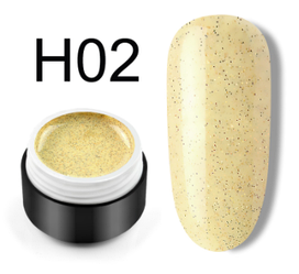 Сахарный цветной гель с мелким шиммером, 5 мл, №H02 (желтый)