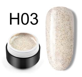 Сахарный цветной гель с мелким шиммером, 5 мл, №H03 (мраморный)