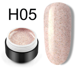 Сахарный цветной гель с мелким шиммером, 5 мл, №H05 (пудровый)