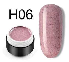 Сахарный цветной гель с мелким шиммером, 5 мл, №H06 (дымчато-розовый)