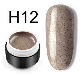 Сахарный цветной гель с мелким шиммером, 5 мл, №H12 (серо-коричневый)