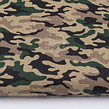 """Клапоть тканини з камуфлированным малюнком """"Military"""" коричнево-зелена, №3089а, розмір 37*80 см, фото 2"""