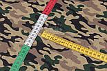 """Клапоть тканини з камуфлированным малюнком """"Military"""" коричнево-зелена, №3089а, розмір 37*80 см, фото 6"""