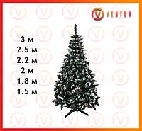 Ель искусственная Рождественская Элитная от 1,5 м до 3м, калина белая с шишками, фото 1