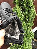 🔥 Кроссовки ботинки мужские зимние Nike Huarache черные кожаные кожа нубук теплые на меху меховые, фото 5