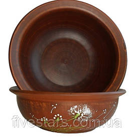 Миска салатник глиняная  Зеленый Одуванчик 1000 мл