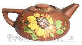 Чайник заварной глиняный  Подсолнух 0,7 л