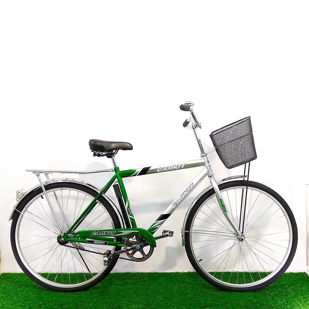 Городской велосипед Салют Men 28 дюймов зеленый