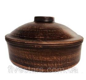 Сковорода глиняная  гладкая  3 л
