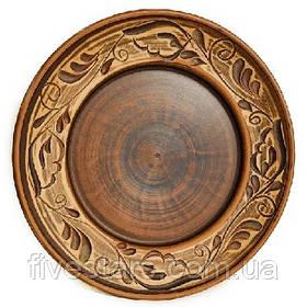 Глиняная тарелка   ангоб 250 мм