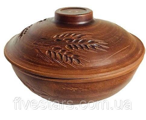 Сковорода глиняная   Колос  4 л
