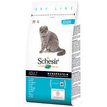 Сухой корм для кошек Шезир Schesir Cat Adult Fish с рыбой 1,5 кг
