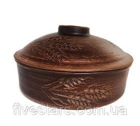 Сковорода  глиняная  декор Колос 3 л