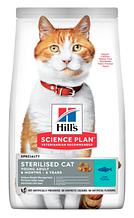Корм Hills (Хілс) SP Feline Young Adult Sterilised Cat Tuna для стерилізованих кішок і кастрованих котів з тунцем,1,5 кг