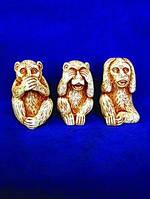 Фигурки Три обезьяны из гипса