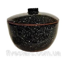 Кастрюля  глиняная   Кашник черный 2 л