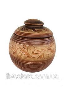 Горшок для запекания глиняный   ангоб 400 мл