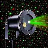 Рождественский мощный лазерный проектор  Star Shower для стильного декора Уличный Черный 6742, фото 2