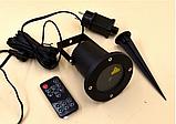 Рождественский мощный лазерный проектор  Star Shower для стильного декора Уличный Черный 6742, фото 4