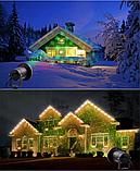 Рождественский мощный лазерный проектор  Star Shower для стильного декора Уличный Черный 6742, фото 3