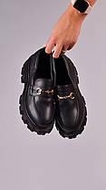 Женские кожаные лоферы черные 39 размер, фото 2