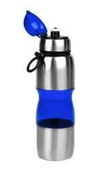 Фляга велосипедная алюминий-пластик 650 мл Синяя