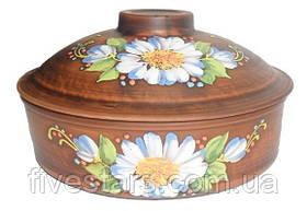 Сковорода  глиняная   Ромашка 3л