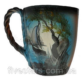Чашка глиняная  природа 0,4 л