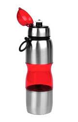 Фляга велосипедная алюминий-пластик 650 мл Красная