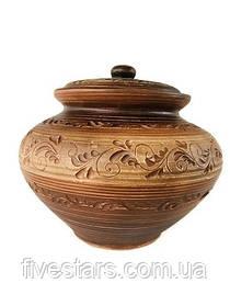 Супник глиняный без ручек   ангоб 4 л