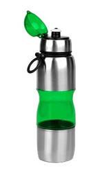 Фляга велосипедная алюминий-пластик 650 мл Зеленая