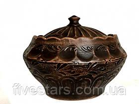 Кастрюля глиняная    овальная декор 3 л